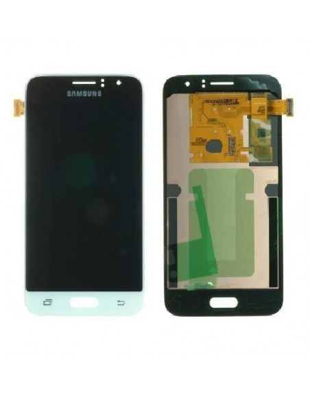 Samsung Galaxy J1 2016 SM-J120F LCD Screen and Digitizer Assembly - White - Original GH97-18224A  - 1