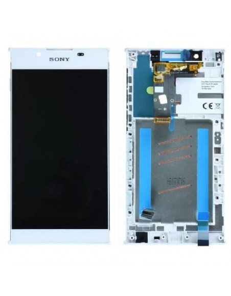 Sony Xperia L1 LCD Screen and Digitizer Assembly with Frame - White - Original A/8CS-81000-0002