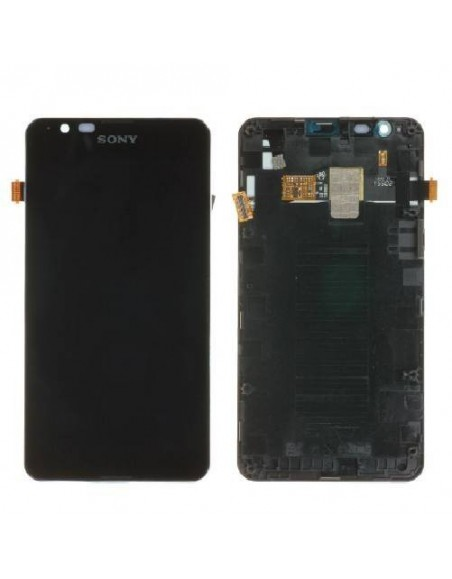 Sony Xperia E4g LCD Screen and Digitizer Assembly with Frame - Black - Original 78P8610001N