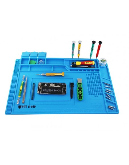 Silicone Heat Insulation Desk Pad Mat Soldering Station Phone Repair Maintenance Telecom care - 1