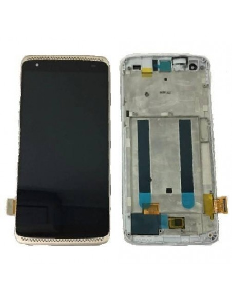 ZTE AXON MINI LCD Screen and Digitizer Assembly with Frame - Gold