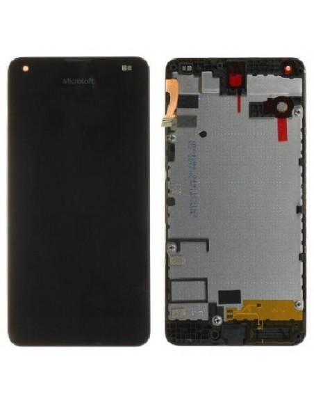 Microsoft Lumia 550 LCD Screen and Digitizer Assembly with Frame  - Black
