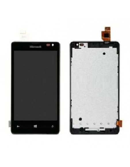 Microsoft Lumia 532 LCD Screen and Digitizer Assembly with Frame - Black