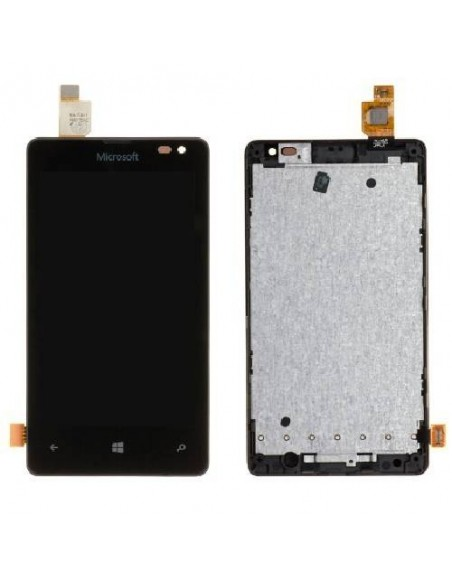 Microsoft Lumia 435 LCD Screen and Digitizer Assembly with Frame - Black