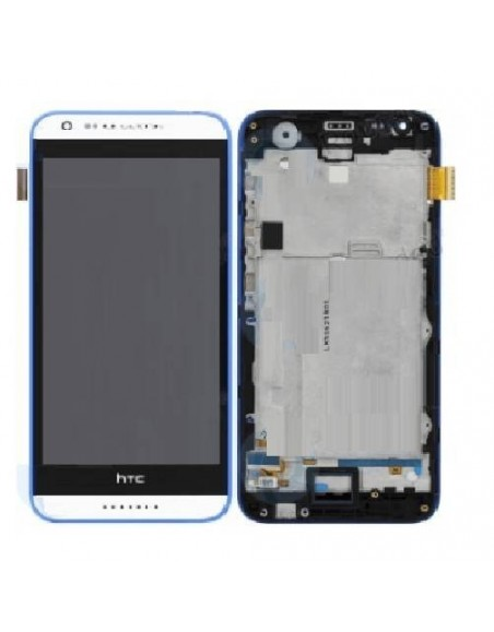 HTC Desire 620 LCD Screen and Digitizer Assembly with Frame - White