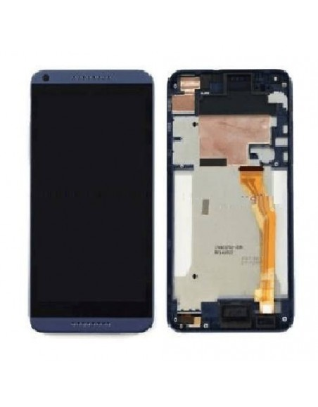 HTC Desire 816 LCD Screen and Digitizer Assembly with Frame - Blue