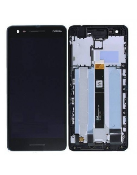 Nokia 2.1 LCD Screen nd Digitizer Assembly with Frame - Blue Copper