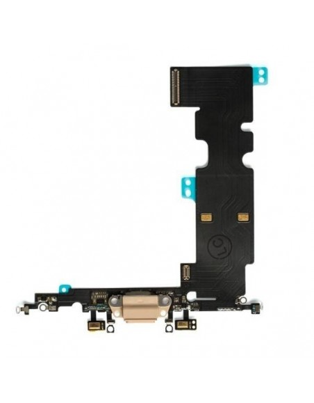 iPhone 8 / SE 2020 Charging Connector, Microphone Flex Cable - Gold Apple - 1