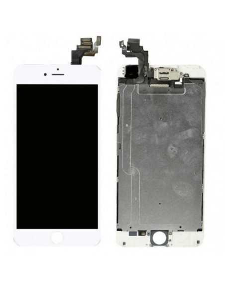 iPhone 6 LCD Screen Full Assembly without Home Button - White Apple - 1