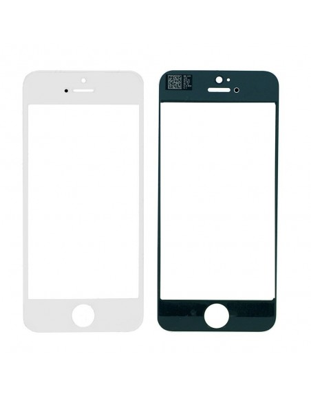 iPhone 5 Front Glass Lens - White Apple - 1