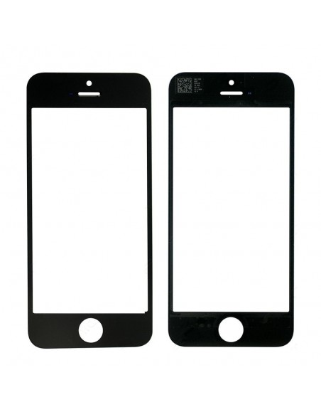 iPhone 5 Front Glass Lens - Black Apple - 1