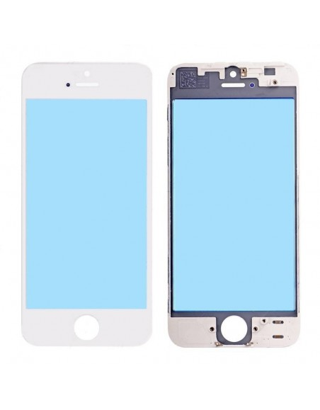 iPhone 5 Front Glass with Cold Pressed Frame - White Apple - 1