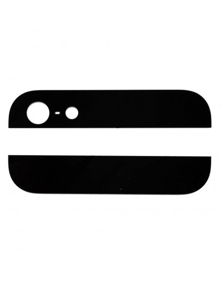 iPhone 5 Top and Bottom Glass Cover - Black Apple - 1