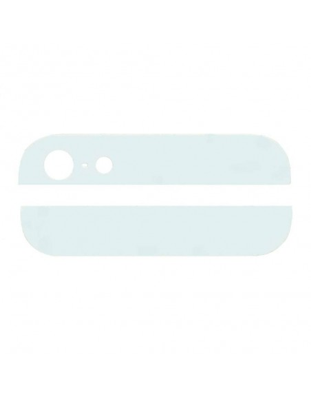 iPhone 5 Top and Bottom Glass Cover - White Apple - 1