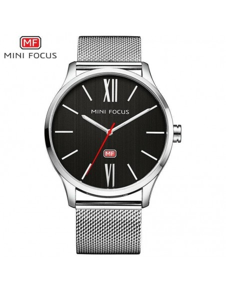 MINI FOCUS NEW Brand Men Quartz Watch Business Simple Dial Stainless Wrist Watch