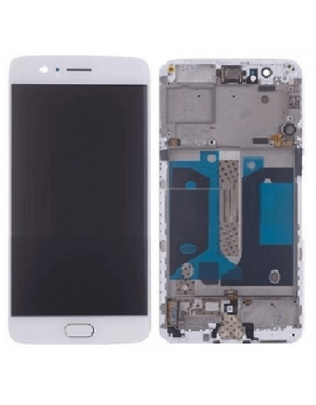 OnePlus 5T LCD Screen and Digitizer Assembly with Frame - White OnePlus - 1