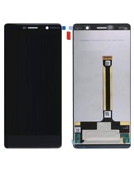 Nokia 7 Plus LCD Screen and Digitizer Assembly - Black Nokia/Microsoft - 1