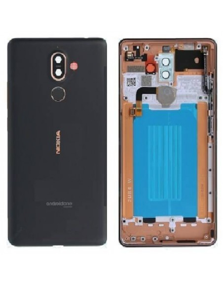 Nokia 7 Plus Back Cover - Black Nokia/Microsoft - 1