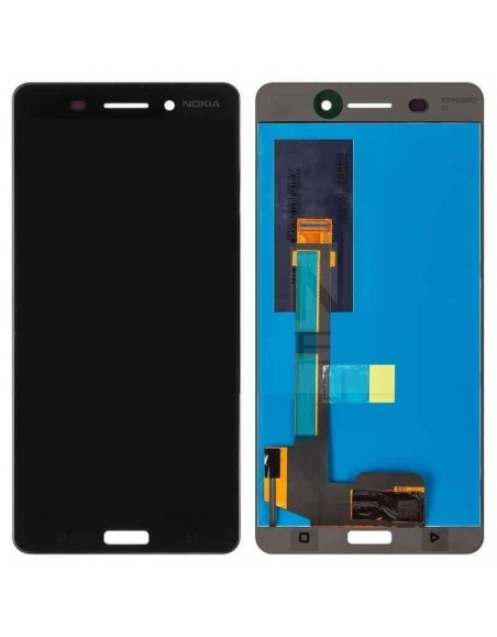 Nokia 6 LCD Screen and Digitizer Assembly - Black Nokia/Microsoft - 1