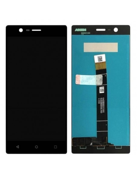Nokia 3 LCD Screen and Digitizer Assembly - Black Nokia/Microsoft - 1