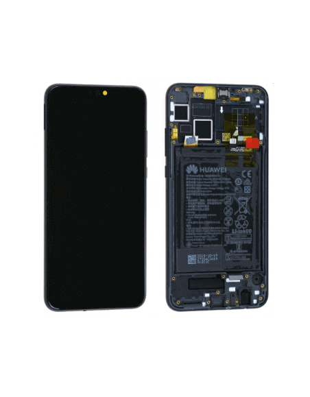 Huawei Honor 8X LCD Screen and Digitizer Assembly with Frame - Black - Original 02352DWX Huawei - 1