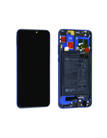 Huawei Honor 8X LCD Screen and Digitizer Assembly with Frame - Blue - Original 02352EAQ Huawei - 1