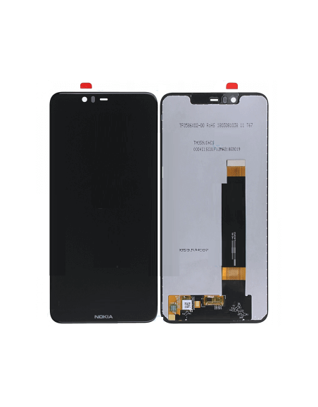 Nokia 5.1 Plus LCD Screen and Digitizer Assembly - Black Nokia/Microsoft - 1