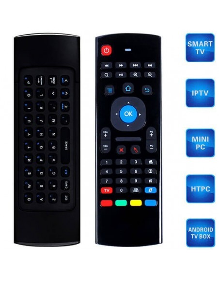 2.4G Wireless Remote Control Keyboard Air Mouse - Black  - 1