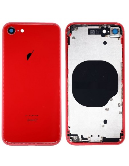 iPhone 8 Back Cover with Frame Assembly - Red Apple - 1