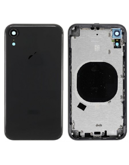iPhone XR Back Cover with Frame - Black Apple - 1