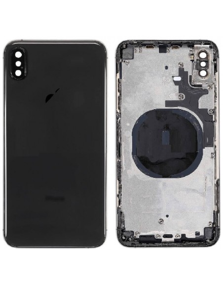 iPhone XS Max Back Cover with Frame - Black Apple - 1