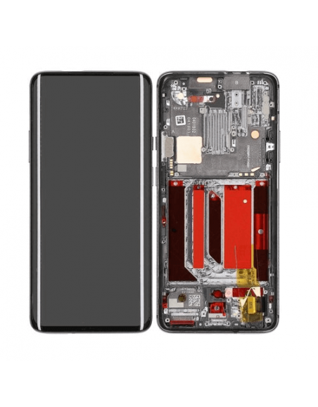 OnePlus 7 Pro LCD Screen Digitizer Assembly with Frame - Original Mirror Gray Samsung - 1