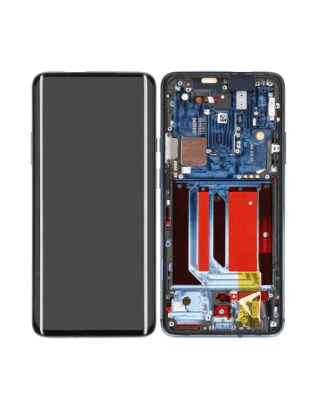 OnePlus 7 Pro LCD Screen Digitizer Assembly with Frame - Original Nebula Blue Samsung - 1