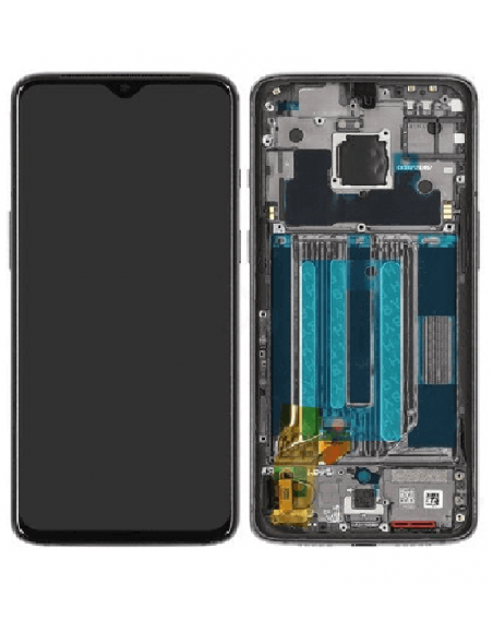 OnePlus 7 LCD Screen Digitizer Assembly with Frame - Original Mirror Gray OnePlus - 1