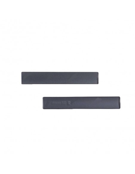Replacement for Sony Xperia  Z3 Compact SD Card Cap Set (2 pcs/set) - Black