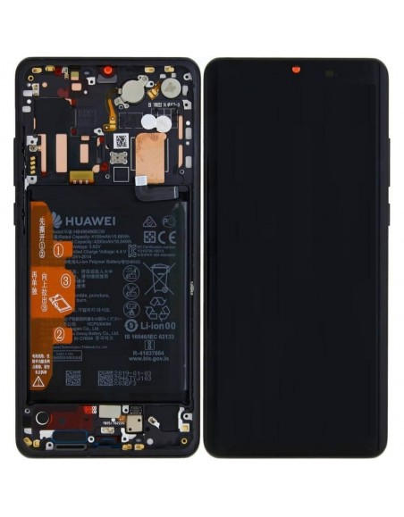 Huawei P30 Pro LCD Screen and Digitizer Assembly with Frame - Black - Original 02352PBT Huawei - 1
