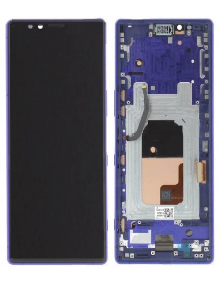 Sony Xperia 1 LCD Screen and Digitizer Assembly with Frame - Purple - Original Sony - 1