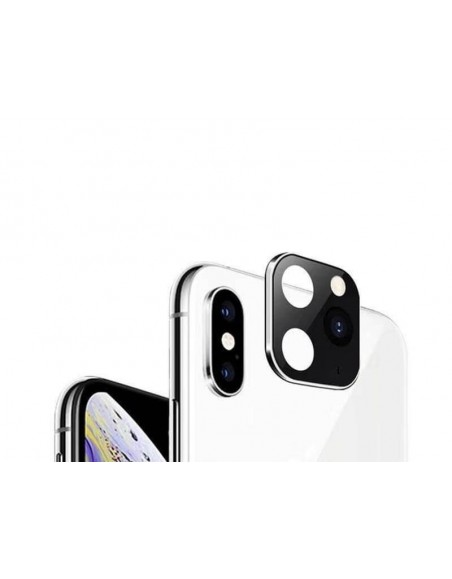 Modified Camera Glass Lens For iPhone X/XS/XS MAX to iPhone 11/PRO/PRO MAX​ - Silver  - 1