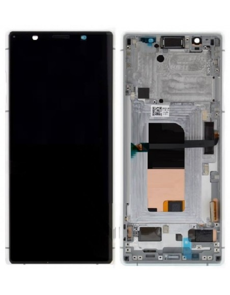 Sony Xperia 5 LCD Screen and Digitizer Assembly with Frame - Gray - Original