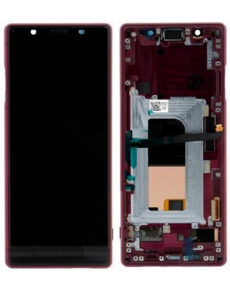 Sony Xperia 5 LCD Screen and Digitizer Assembly with Frame - Red - Original