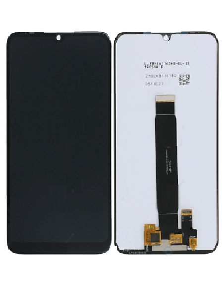 MOTO E6 Plus LCD Screen and Digitizer Assembly - Polished Graphite