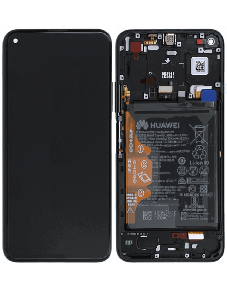 Honor 20 Pro LCD Screen and Digitizer Assembly with Fram , Battery , EarSpeaker- Black - Original 02352VKJ