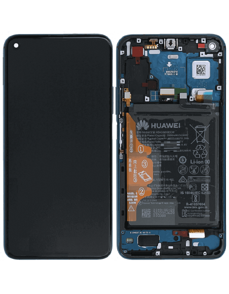 Honor 20 Pro LCD Screen and Digitizer Assembly with Fram , Battery , EarSpeaker - Blue - Original 02352VKL