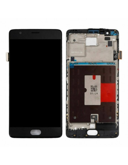OnePlus 3 / 3T LCD Screen and Digitizer Assembly with Frame - Black OnePlus - 1