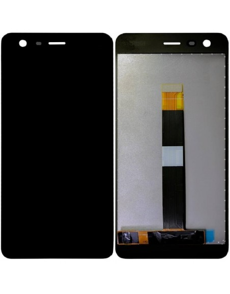 Nokia 2 LCD Screen and Digitizer Assembly - Black Nokia/Microsoft - 1