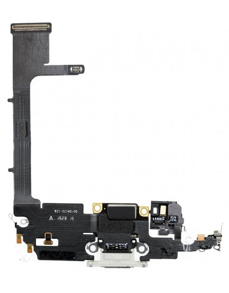 iPhone 11 Pro Charging Connector Flex Cable - Silver Apple - 2