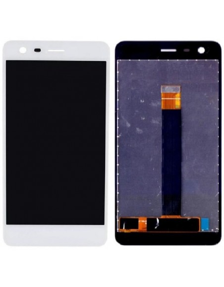 Nokia 2.2 LCD Screen and Digitizer Assembly - White Nokia/Microsoft - 1
