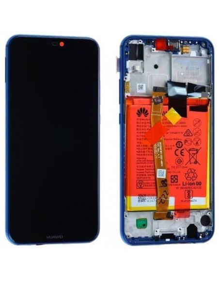 Honor 20 Lite LCD Screen and Digitizer Assembly with Frame - Blue Huawei - 1