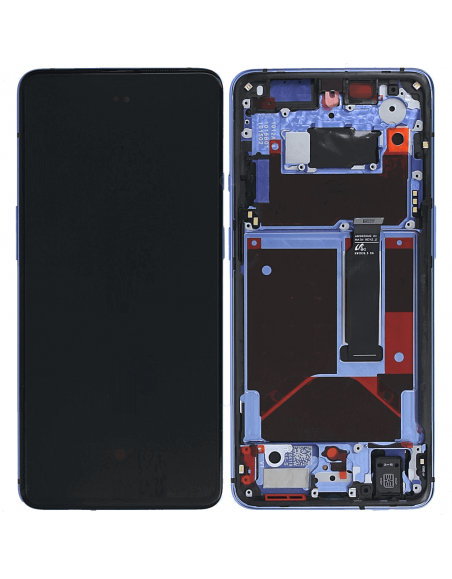 OnePlus 7T LCD Screen Digitizer Assembly with Frame - Blue OnePlus - 1