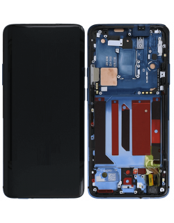 OnePlus 7T Pro LCD Screen Digitizer Assembly with Frame - Blue
